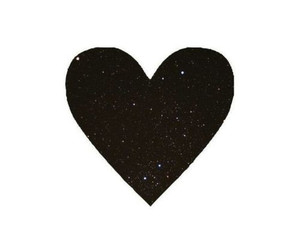 black, glitter, and heart image