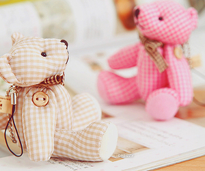 cute, bear, and pink image