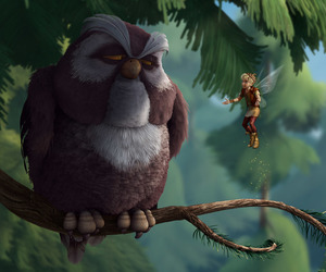 disney, owl, and tinker bell image