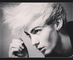 black and white, model, and cheekbones image