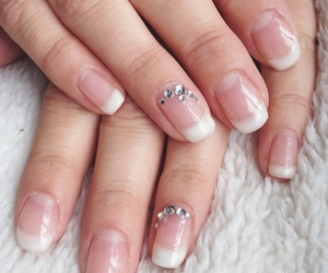 manicure, nails, and french manicure image