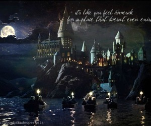 boats, castle, and harry potter image