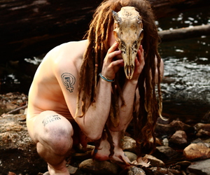 beautiful, dreads, and skull image