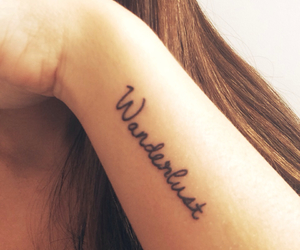 girl, tattoo, and wanderlust image