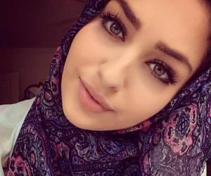 hijab, girl, and muslim image