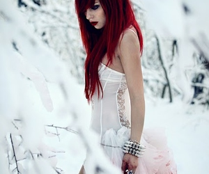 snow, blood, and red hair image