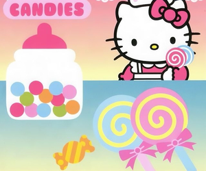 candy, hello kitty, and kitty image