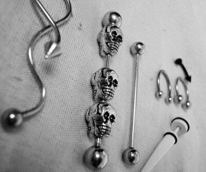piercing and skull image