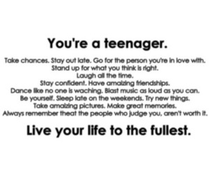 teenager, life, and quote image