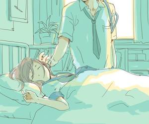 boy, sleeping, and infirmary image