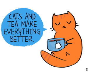 cats and tea image