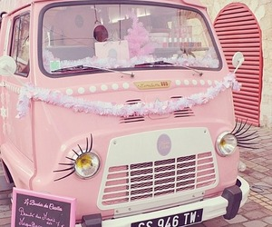 pink, car, and vans image