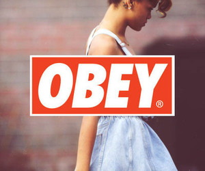 obey, rihanna, and swag image