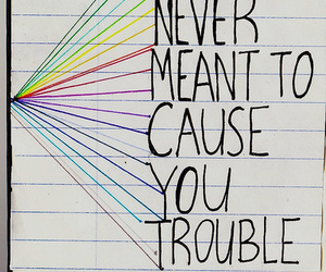 coldplay, trouble, and quote image