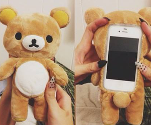 bear, iphone, and cute :3 image