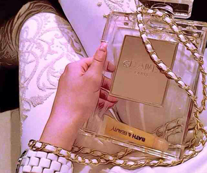 chanel, purse, and gold image