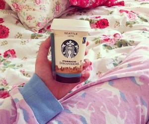 coffee, rosy, and starbucks image
