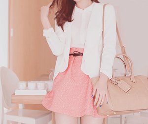 kfashion, pink, and korean image