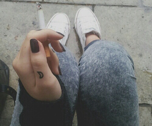 cigarette, girl, and hipster image
