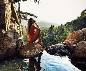 girl, summer, and nature image