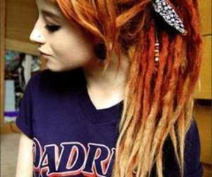 girl, hair, and dreadlocks image
