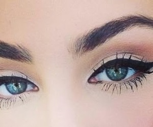 eyebrows, eyeliner, and girl image