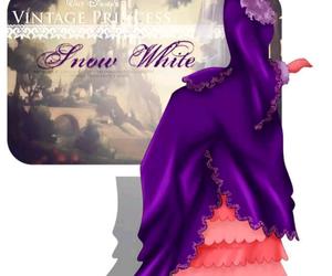 snow white, disney, and vintage image