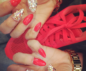nails, red, and luxury image