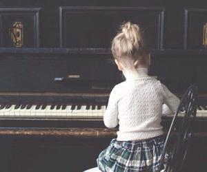 piano, child, and kids image