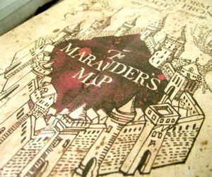 harry potter, marauders map, and the marauder's map image