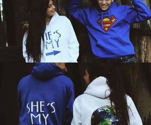 love, couple, and superman image