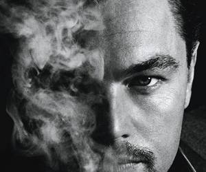 leonardo dicaprio, actor, and smoke image
