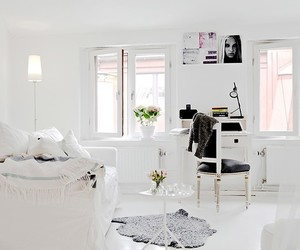 white, decor, and interior image