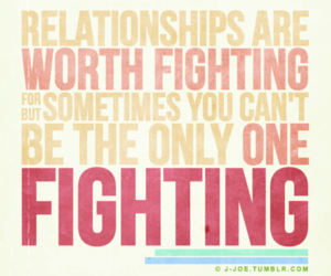 quote, Relationship, and fighting image