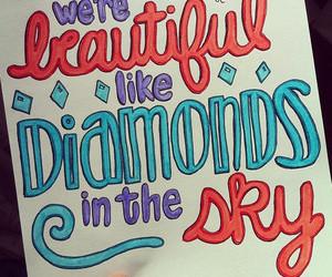 diamonds, rihanna, and Lyrics image