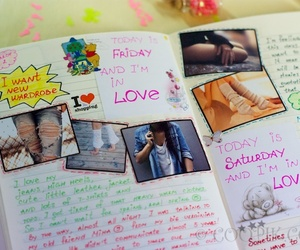 colorful, diary, and inspiration image