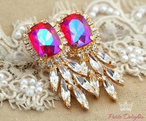 chandeliers, diamonds, and earrings image