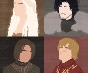 game of thrones, arya, and jon snow image
