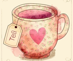 tea, pink, and heart image