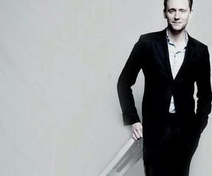 tom hiddleston and black and white image