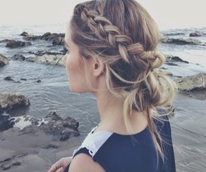beach, beautiful, and curls image
