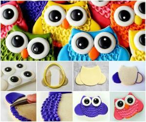 diy big eyes owl cookie image