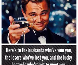 cheers, gatsby, and leonardo dicaprio image