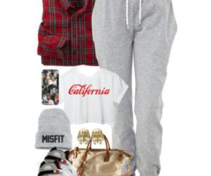beanie, jordans, and joggers image
