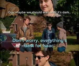 augustus, the fault in our stars, and love image