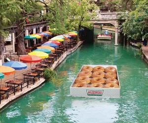 blue, boat, and donuts image