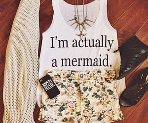 outfit, fashion, and mermaid image