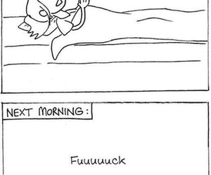 funny, morning, and exercise image
