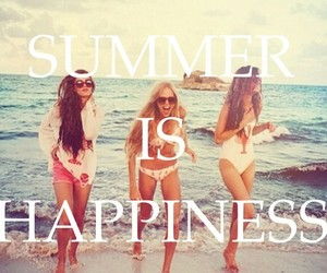 summer, happiness, and beach image