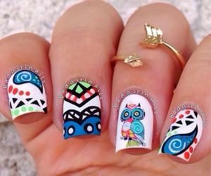 nails, nice, and owl image